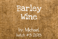 Expressions Mini Wine Label - Barley