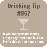 Expressions Drink Coaster - Drinking Tip #867