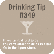 Expressions Drink Coaster - Drinking Tip #349