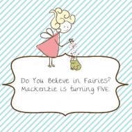 Birthday Sticker - Fairy Party