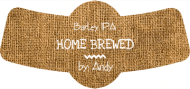 Expressions Bottle Neck Label - Burlap