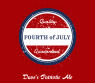 Holiday Beer Label - Patriotic Brew