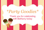 Celebration Sticker - Ice Cream Party
