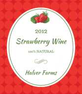 Wine Label - Strawberry