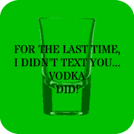 Expressions Drink Coaster - Drunk Text