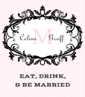 Wedding Wine Label - Chantilly Frame