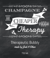 Celebration Champagne Label - Chalkboard