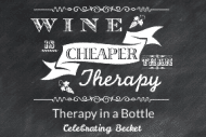 Expressions Mini Wine Label - Chalkboard