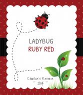 Expressions Wine Label - Ladybug