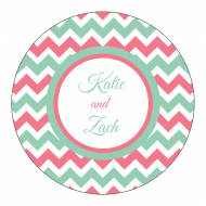 Wedding Sticker - Triple Chevron