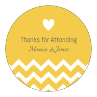 Wedding Sticker - Wedding Chevron