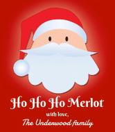 Holiday Wine Label - Santa