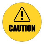 Sticker - Caution