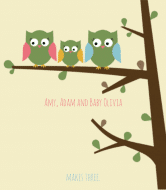 Baby Wine Label - Owls