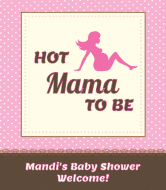 Baby Wine Label - Hot Mama