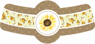 Celebration Bottle Neck Label - Sunflower