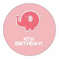 Birthday Sticker - Elephant