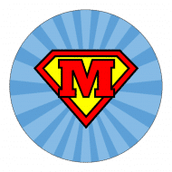 Birthday Sticker - Superman