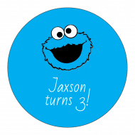 Birthday Sticker - Cookie Monster