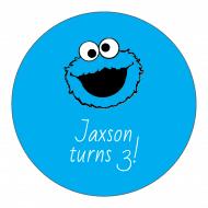 Birthday Sticker - Cookie Monster