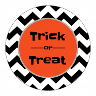 Holiday Sticker - Halloween Chevron