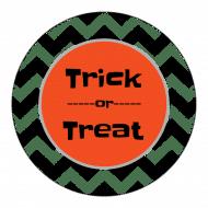 Holiday Sticker - Halloween Chevron