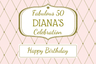 Birthday Gift Tag - Diamonds