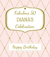 Birthday Champagne Label - Diamonds