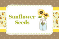 Celebration Food Label - Sunflower