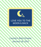 Baby Wine Label - Love You to the Moon