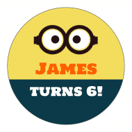Birthday Sticker - Minion