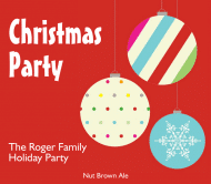 Holiday Beer Label - Christmas Party