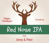 Holiday Beer Label - Red Nose