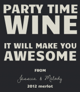 Celebration Wine Label - Party Time