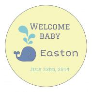 Baby Sticker - Whale