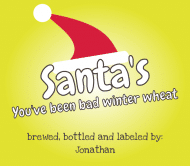Holiday Beer Label - Santa's Hat