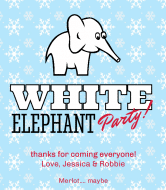Holiday Wine Label - White Elephant Party