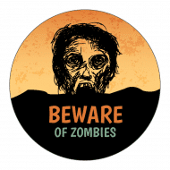 Holiday Sticker - Dawn of the Dead