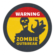 Holiday Sticker - Zombie Outbreak