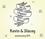 Anniversary Beer Label - We Do Again Brew