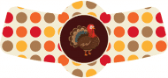 Holiday Bottle Neck Label - Gobble Till You Wobble