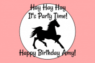 Birthday Mini Wine Label - Dark Horse