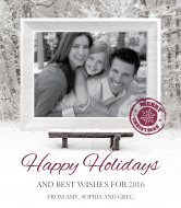 Holiday Wine Label - Holiday Smiles