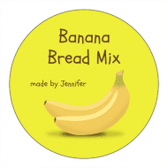 Canning Label - Bananas