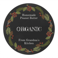 Canning Label - Nature's Wreath