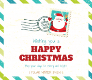 Holiday Beer Label - Letter To Santa