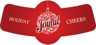 Holiday Bottle Neck Label - Be Joyful