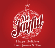 Holiday Beer Label - Be Joyful