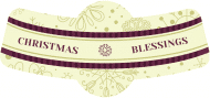 Holiday Bottle Neck Label - Christmas Blessings