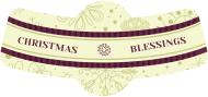 Holiday Bottle Neck Label - Christmas Blessings